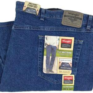 Wrangler Flex Waistband Regular Fit Jeans Sz 50x29